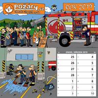 Kalendář POŽÁRY.cz 2019 - stolní s ilustracemi